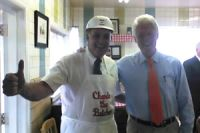 Charlie and Bill Clinton